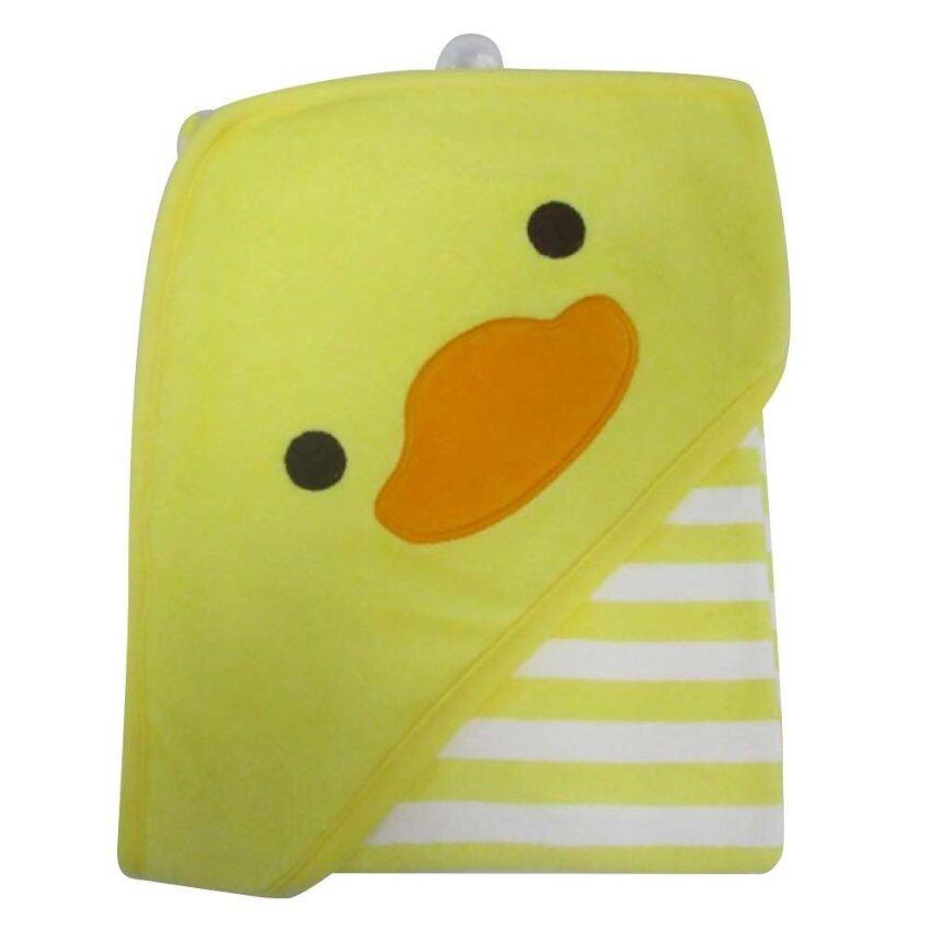 Precious Baby ผ้าห่อตัวเด็กปักลายหน้าเป็ด (สีขาวริ้วเหลือง)
