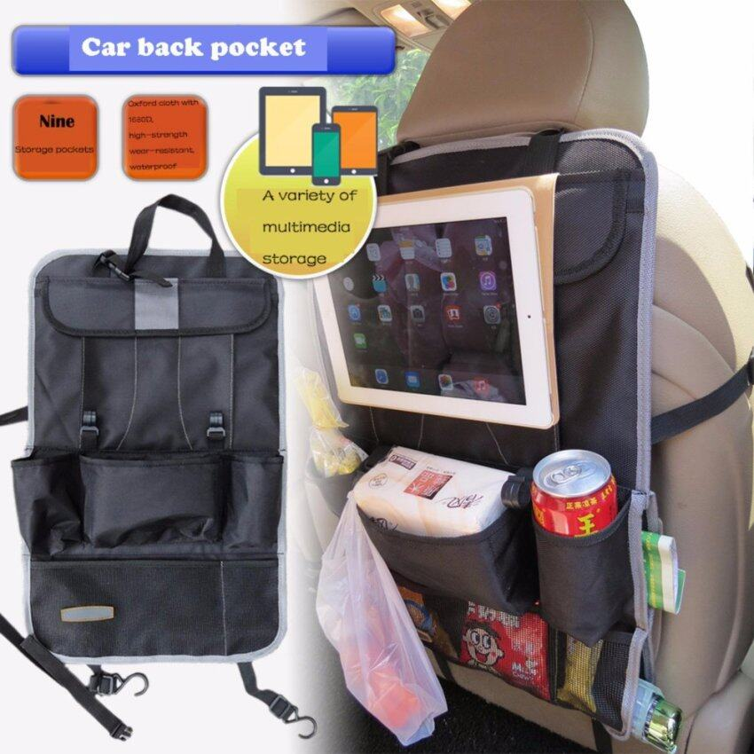 Premium Quality Backseat Car Organizer Multi-Pocket Travel Storage Bag With Built-In iPad/Tablet Holder Cargo Storage For Baby Stroller & Kid Travel Accessories - intl