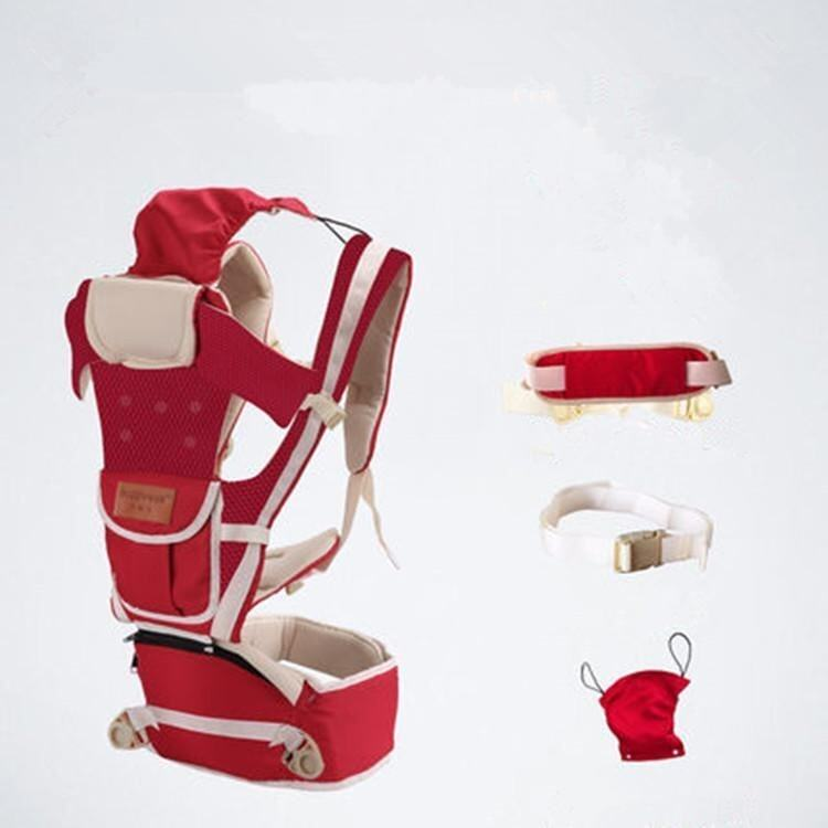 Pure Cotton New Red Net Breathable 10 in 1 Multifunctional Baby Carrier Waist Belt with Waist Stool - intl