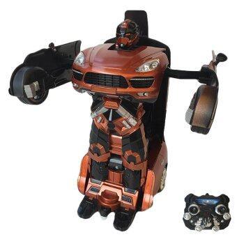 Rctoystory รถบังคับ หุ่นยนต์ แปลงร่าง เก๋ง (ส้ม/ดำ)