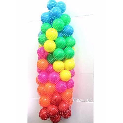 Ruklook บอล 100 ลูก ปลอดสารพิษ เนื้อหนา ขนาด 3 นิ้ว (คละสี) ...