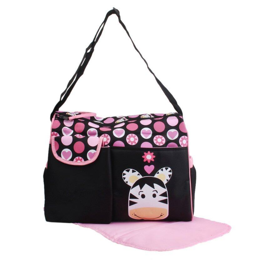 S & F Multifunctional Baby Diaper Nappy Changing Bag Mummy Handbag Donkey Pattern
