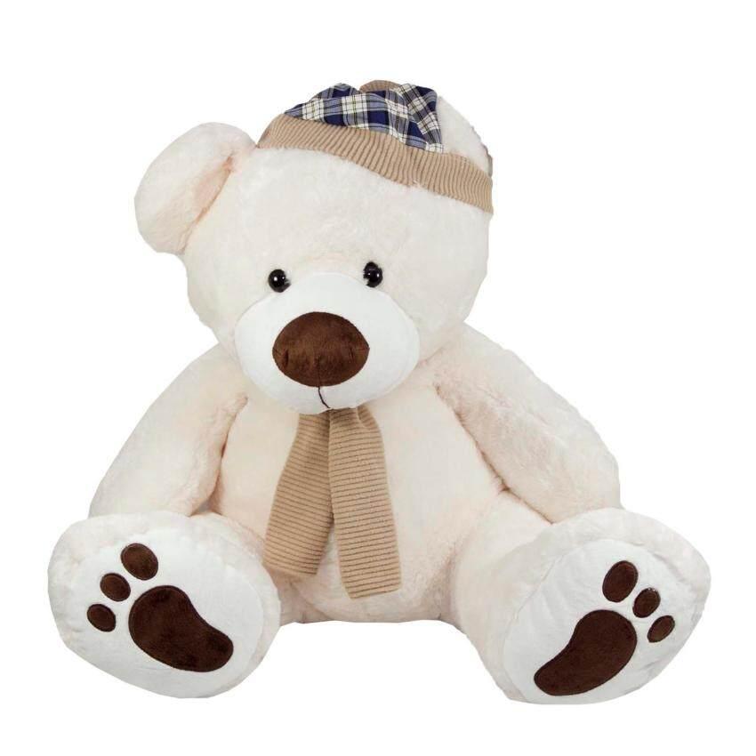 หมีผู้ดี Size L สีขาว (ขนาด 20 นิ้ว) ...