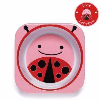 Skip Hop ชามสำหรับเด็ก ดีไซน์น่ารัก Zoo Bowl Lady Bug Style