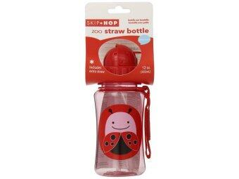 Skip Hop Zoo Straw Bottle, Lady bug