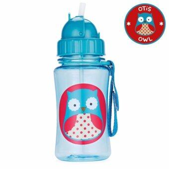 Skip Hop กระติกน้ำพร้อมหลอดดูด Zoo Straw Bottle OwlStyle