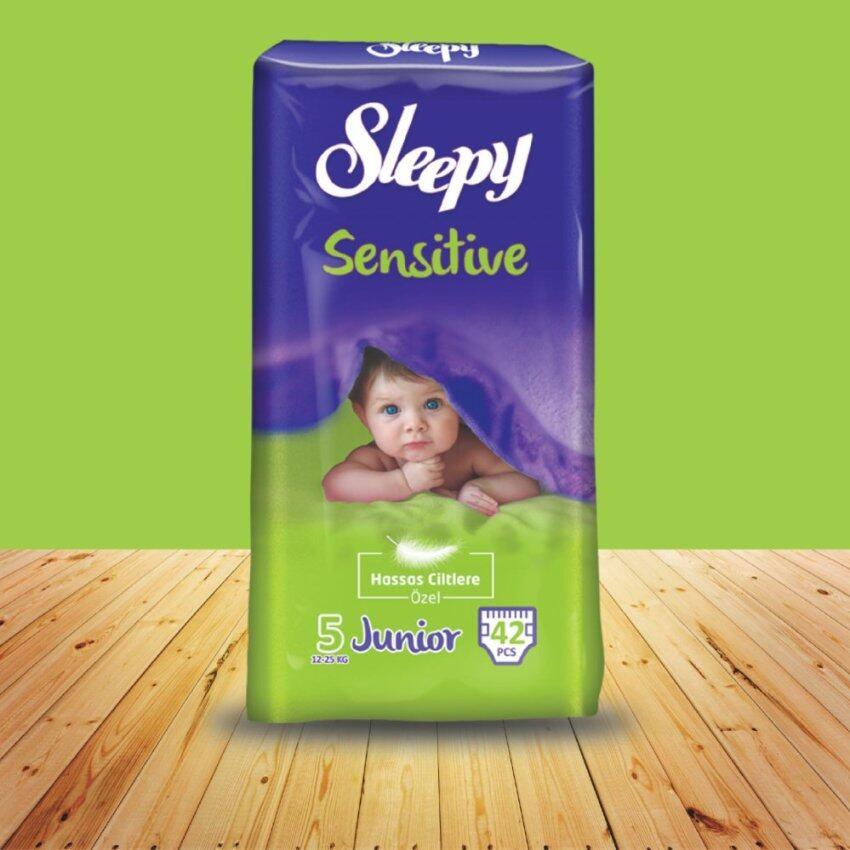 SLEEPY SENSITIVE ไซส์ Junior แพ็คละ 42 ชิ้น สำหรับเด็กน้ำหนัก 12-25 กก