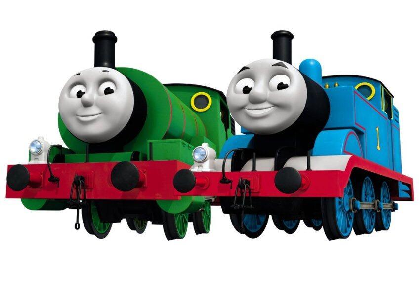 ด่วน Thomas & Friends หัวรถไฟใส่ถ่าน Thomas Percy (2ชิ้น) ลดราคา
