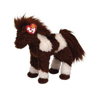 Ty Beanie Babies Thunderbolt - Brown and White Horse