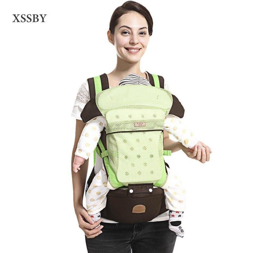 XSSBY Squirrel Baby Color Block Multi Ways Baby Carrier - intl