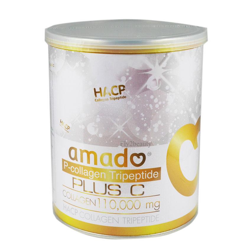 สุดยอดAmado P-Hydrolyzed Collagen 100,000 Mg. อมาโด้ พี ไฮโดรไลซ์คอลลาเจน เพื่อผิวสวย 100,000 มก. ขนาดบรรจุ 100 กรัม จำนวน 1 กระป๋อง ที่คุณต้องซื้อ
