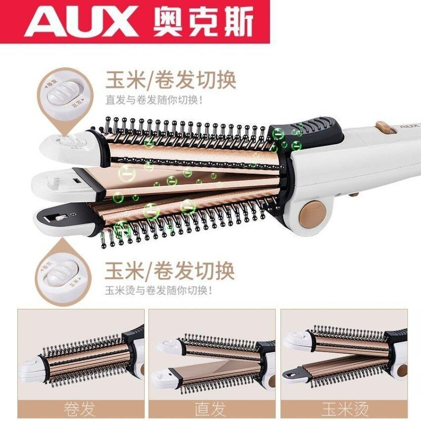 AUX Electric Dual-purpose Curling Hair Stick Ceramic Inner BuckleClip Straight Hair Stra ...