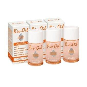 Bio oil ผลิตภัณฑ์รักษาแผลเป็นและรอยแตกลาย 60 ml. ( 3 ขวด)