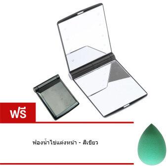 Elit กระจกแบบพกพา ไฟ LED สุดอเนกประสงค์ แถมฟรี ฟองน้ำไข่แต่งหน้า