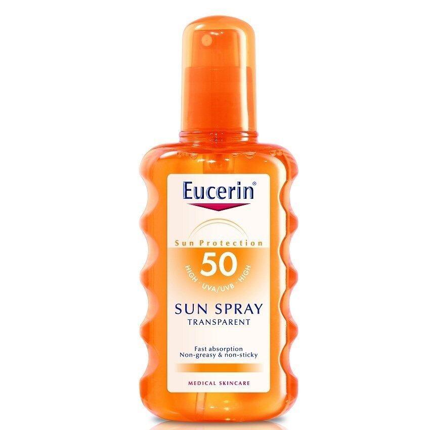 Eucerin ซัน สเปรย์ ทรานสพาเร้นท์ เอสพีเอฟ50+ 200 มล.