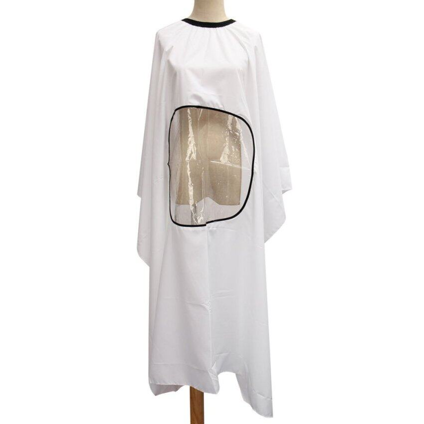 Hairdresser Hair Cut Cutting Gown Cape Barber Apron Salon Viewing Window 3 Color White - ...