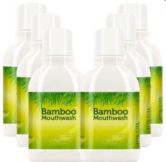 Hylife Bamboo mouthwash น้ำยาบ้วนปาก ขจัดคราบหินปูน ชา กาแฟ (300 ml.) 6 ขวด