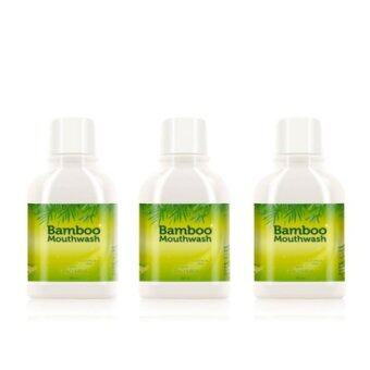 Hylife Bamboo Mouthwash น้ำยาบ้วนปากบูเม้าท์วอช ขจัดคราบหินปูน ชา กาแฟ 300 ml. (3 ขวด)