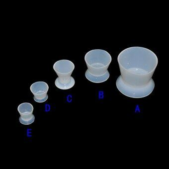 One set Dental Lab Nonstick Silicone Mixing Bowl Cup (1-5#)