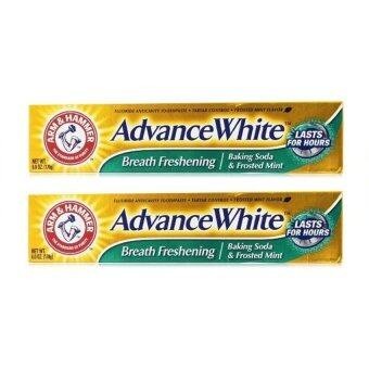 Advance White Brilliant Sparkle Fluoride Anti-Cavity Toothpaste 6 oz x2