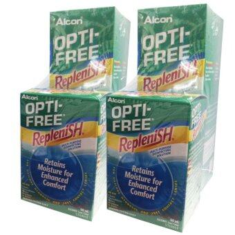 ALCON OPTI-FREE Replenish สูตรใหม่ ขนาด 300 ml. (2 กล่อง) แถมฟรี Opti free Replenish ขนาด 60 ml. (2 ขวด)