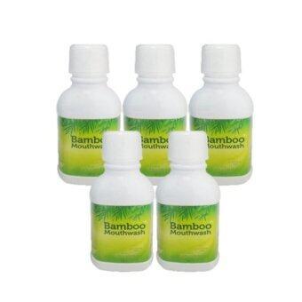 Hylife Bamboo Mouthwash น้ำยาบ้วนปากบูเม้าท์วอช ขจัดคราบหินปูน ชา กาแฟ 300 ml. (5 ขวด)