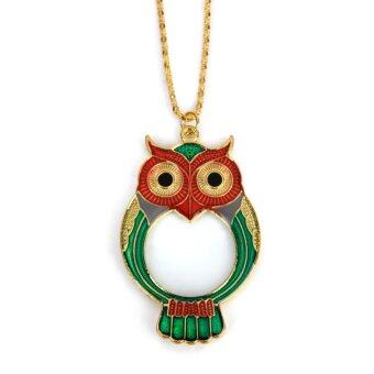 Owl Pendant Magnifying Glass Necklace