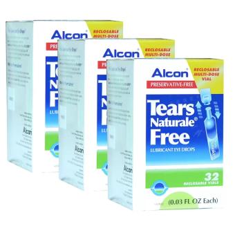 ALCON Tears Naturale Freeน้ำตาเทียม ไม่มีสารกันบูด0.03 FL.OZ (0.8 ml) 3กล่อง