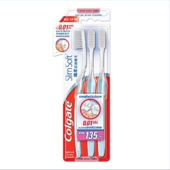 COLGATE แปรงสีฟัน สลิม ซอฟท์ นุ่มพิเศษ แพค 3