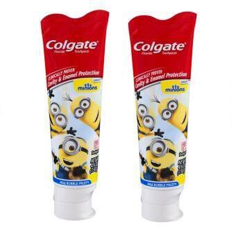 Colgate Minions Fluoride Toothpaste Mild Bubble Fruit, 4.6 OZ = 2 ชิ้น