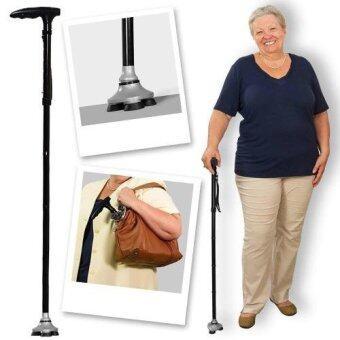Gion - ไม้เท้าช่วยพยุง พับได้ ปรับสูงต่ำ ได้ มีไฟฉายช่วยเดิน สามารถตั้งได้ Trusty cane