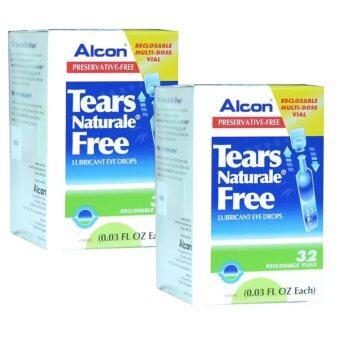 ALCON Tears Naturale Freeน้ำตาเทียม ไม่มีสารกันบูด0.03 FL.OZ (0.8 ml) 2กล่อง