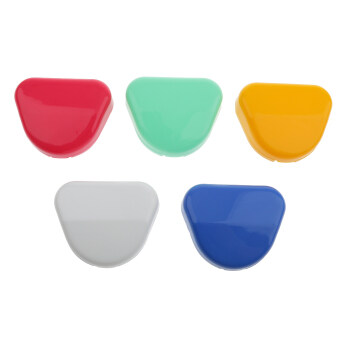 BolehDeals 5pcs Dental Retainer Orthodontic Mouthguard Denture Storage Cases Box