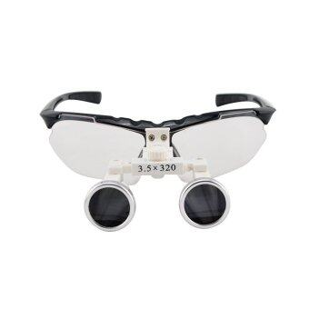 Black 3.5X 320mm Dentist Dental Surgical Medical Binocular Loupes Optical Glass Loupe