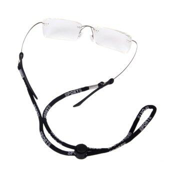 Adjustable Holder Sunglass Eyewear Cord Neck Strap Black