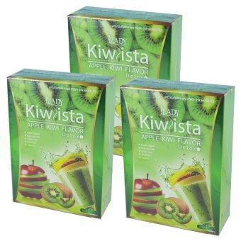 Kiwista Detox ดีท๊อกซ์ กีวิสต้า รสแอปเปิ้ล กีวี่ ขนาดบรรจุ 5 ซอง (3 กล่อง)