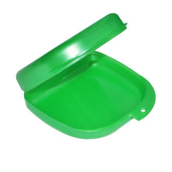 Green Dental Orthodontic Retainer Denture mouthguard Case Box (Intl)