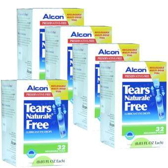 ALCON Tears Naturale Freeน้ำตาเทียม ไม่มีสารกันบูด0.03 FL.OZ (0.8 ml) 5กล่อง