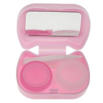 BolehDeals Pocket Contact Lens Case Travel Storage Kit Holder Container Box Purple