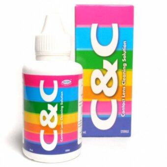 C&C contact lens cleaning solution 60ml. น้ำยาล้างคอนแทคเลนส์
