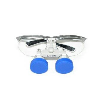 Silver 2.5X 320mm Dentist Dental Surgical Medical Binocular Loupes Optical Glass Loupe