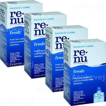 Renu Fresh Multi Purpose Solution 120 ml (4ขวด) รีนิว เฟรช น้ำยาล้างคอนแทคเลนส์