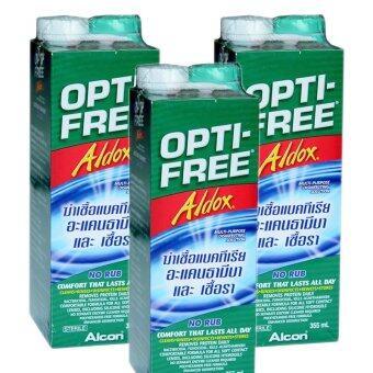 ALCON Opti-Free Aldox ออฟติ-ฟรี ออลด็อซ สำหรับล้างคอนแทคเลนส์ 355ml. (3 ขวด)