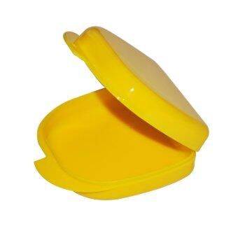 Yellow Dental Orthodontic Retainer Denture mouthguard Case Box (Intl)