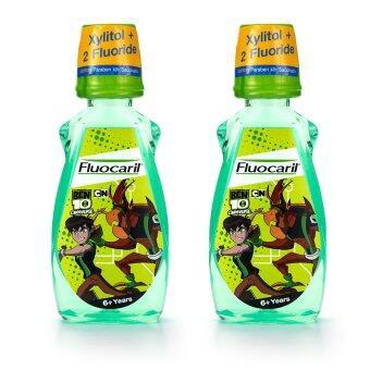FLUOCARIL ฟลูโอคารีล เบนเทน 2 น้ำยาบ้วนปากเด็ก 6 ปี 250X2 ML. - แพ็คคู่