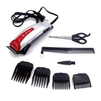 SONAR แบตเตอเลี่ยนตัดผมชายสีเงิน ปัตตาเลี่ยนมีสาย แบตตาเลี่ยนตัดผมเด็ก ชุดแบตเตอเลี่ยนตัดผมเด็กและผู้ใหญ่พร้อมหวีรองปัตตาเลี่ยน SILVER Professional Electric Hair Clipper Set For Men & Women
