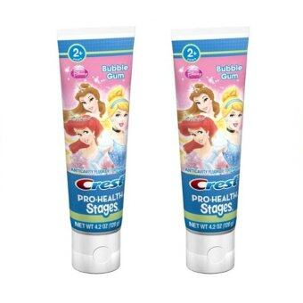 Crest Pro-Health Stages Kids Toothpaste featuring Disney Princess with Disney MagicTimer App by Oral-B - 4.2 Oz x2 ชิ้น