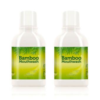 Hybeauty Bamboo Mouthwashน้ำยาบ้วนปาก แบมบู300 ml. (2ขวด)