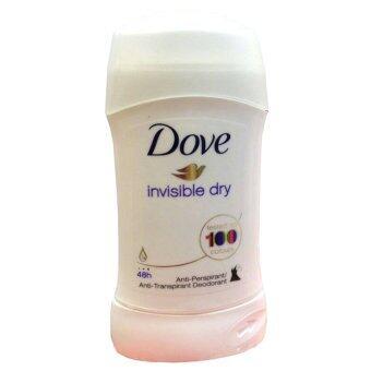 Dove Anti-Perspirant Deodorant Invisible Solid Original Clean โดฟ โรลออนแบบแท่ง ระงับเหงื่อและกลิ่นกาย ทารักแร้ ทาเต่า #invisible Dry ( 1 แท่ง)
