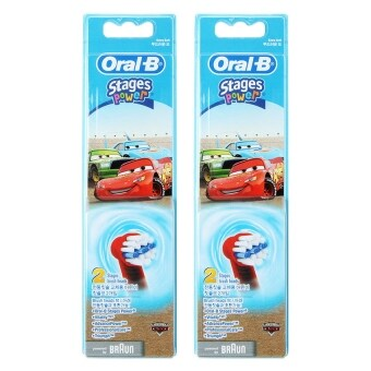Braun Oral-B EB10-2 Disney Car Kids Toothbrush Replacement BrushHead 2Pack(4PCS)